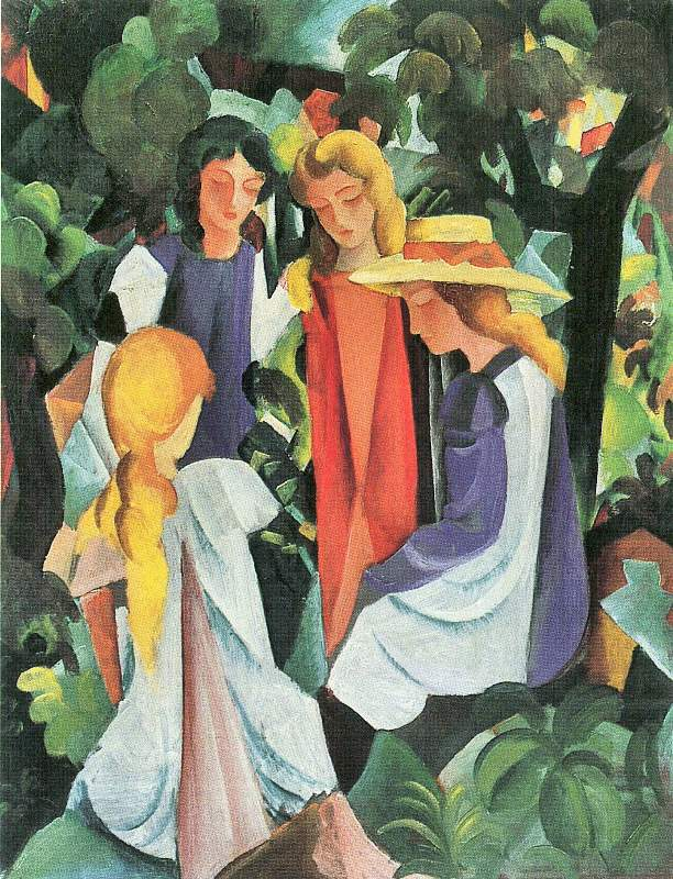 August Macke - Page 3 Four%20girls%20by%20August%20Macke