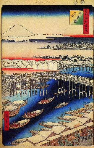 Nihonbashi, Clearing After Snow by Hiroshige