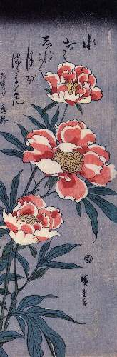 Peonies by Hiroshige