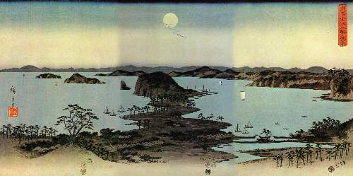 Seascape by Hiroshige