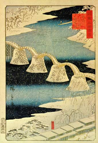 Snow by Hiroshige