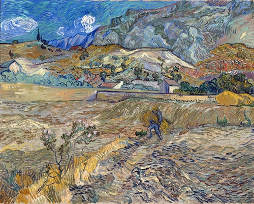 Van Gogh - Enclosed Field with Peasant