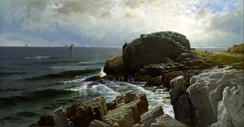 Alfred Bricher - Castle Rock, Marblehead