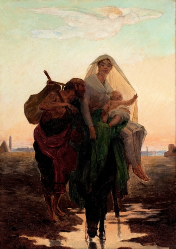 Almeida Junior - Flight of the holy family to Egypt