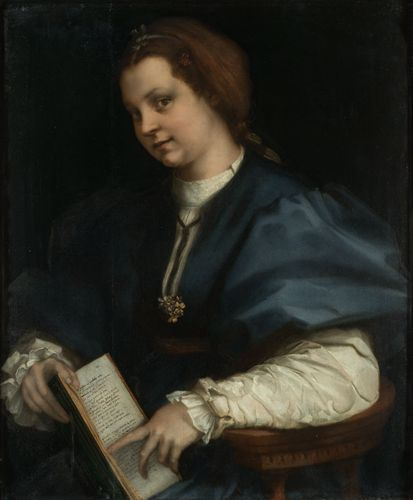 Andrea del Sarto - Lady with a book