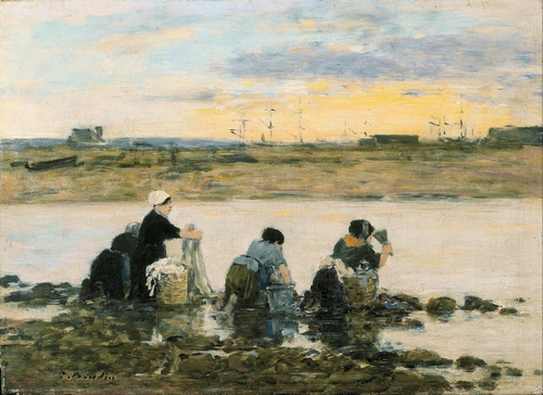 Boudin - Washerwomen by the River