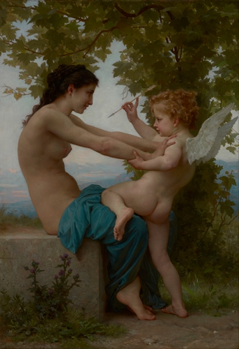 Bouguereau - A Young Girl Defending Herself against Eros