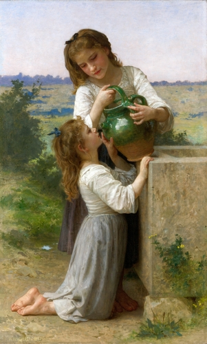 Bouguereau - At the fountain