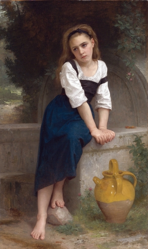 Bouguereau - Orphan by the Fountain (1883)