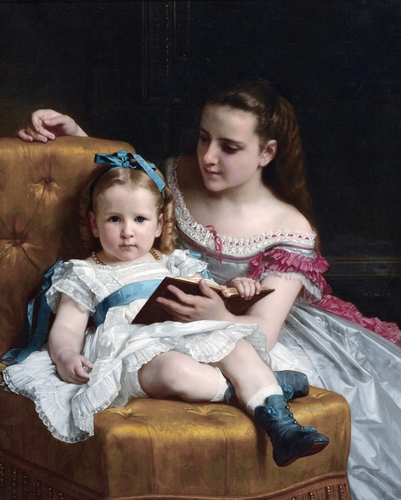 Bouguereau - Portrait of Eva and Frances Johnston