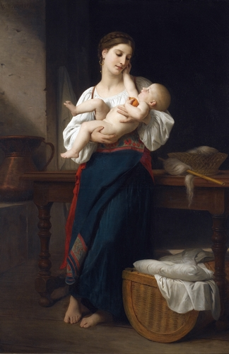 Bouguereau - Premieres caress
