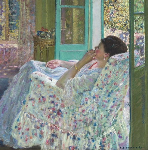 Carl Frieseke - Afternoon in the yellow room