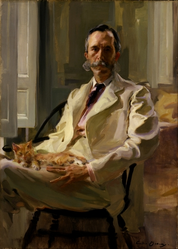 Cecilia Beaux - Man with the Cat