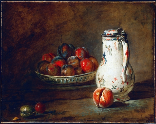Chardin - A Bowl of Plums