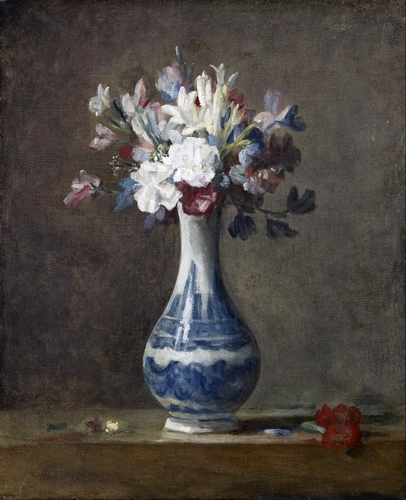 Chardin - A vase of flowers