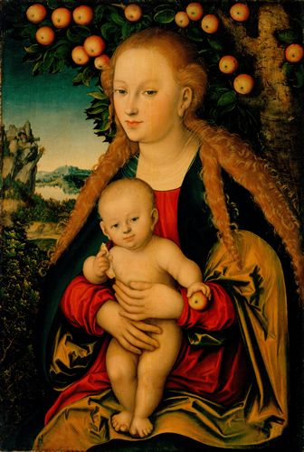 Cranach - The Virgin and Child Under an Apple Tree