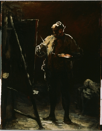 Daumier - The Painter at His Easel
