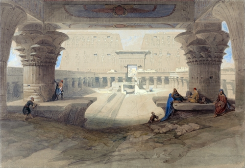 David Roberts - Portico of the Temple of Edfu in Upper Egypt