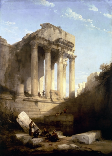 David Roberts - Ruins of the Temple of Bacchus