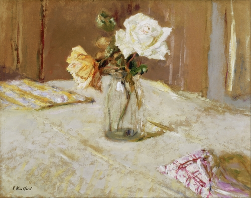Edouard Vuillard - Roses in a Glass Vase