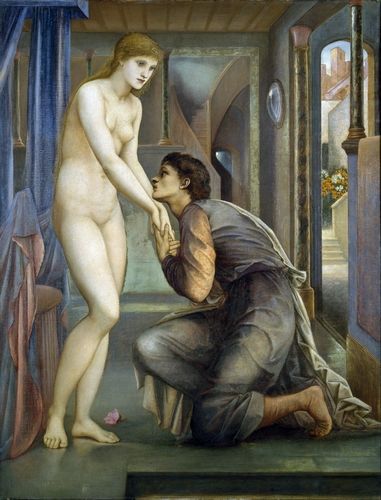 Edward Burne-Jones - Pygmalion and the Image II