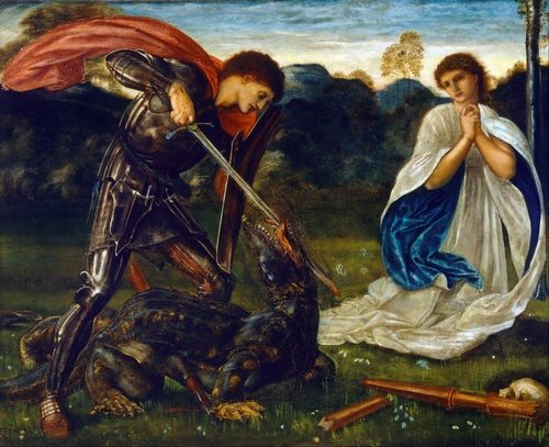 Edward Burne-Jones - St George kills the dragon VI