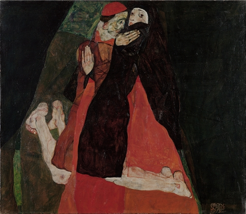 Egon Schiele - Cardinal and Nun