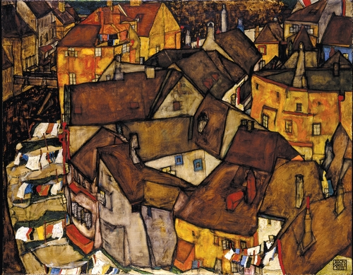 Egon Schiele - Crescent of Houses