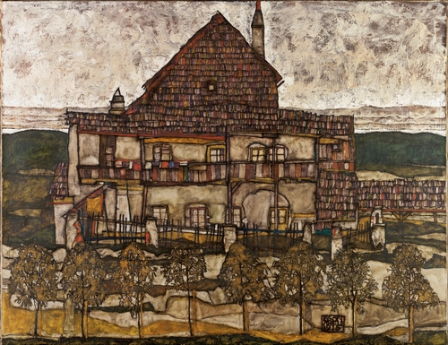 Egon Schiele - House with Shingle Roof