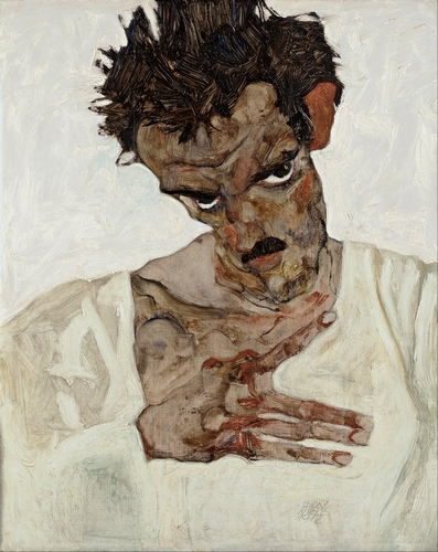 Egon Schiele - Self-Portrait