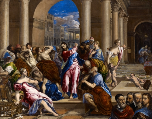 El Greco - Christ driving out the money changers from the temple