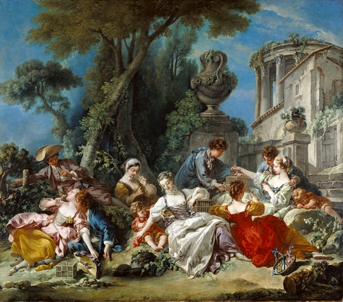 Francois Boucher - The bird catchers