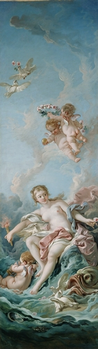Francois Boucher - Venus on the waves
