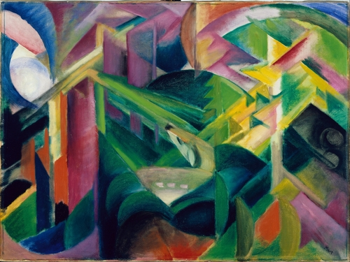 Franz Marc - Deer in a monestary garden