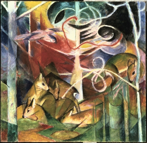 Franz Marc - Deer in the Forest I
