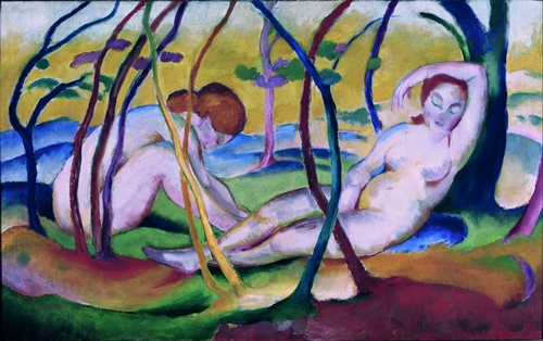 Franz Marc - Nudes under Trees