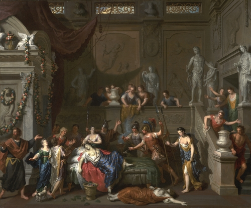 Gerard Hoet - The death of Cleopatra
