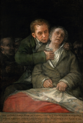 Goya - Self-Portrait with Dr. Arrieta