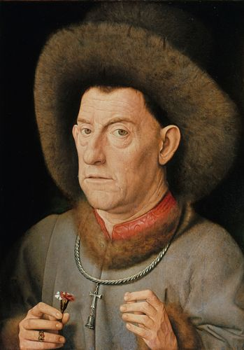 Jan van Eyck - Man with pinks
