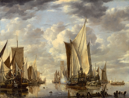 Jan van de Cappelle - Shipping in a calm