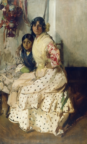 Jaoquin Sorolla - Pepilla the Gypsy and Her Daughter
