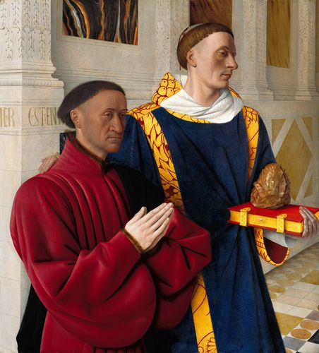 Jean Fouquet - Etienne Chevalier with St. Stephen