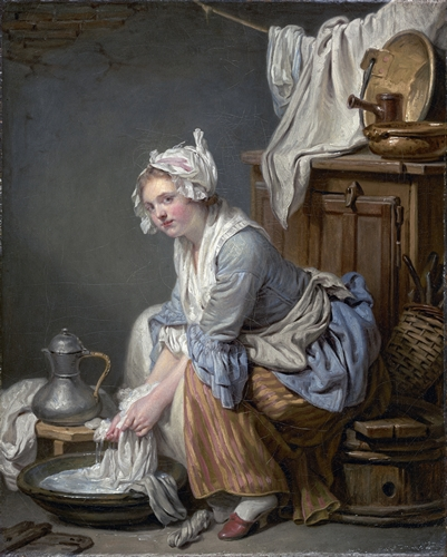 Jean-Baptiste Greuze - The Laundresse