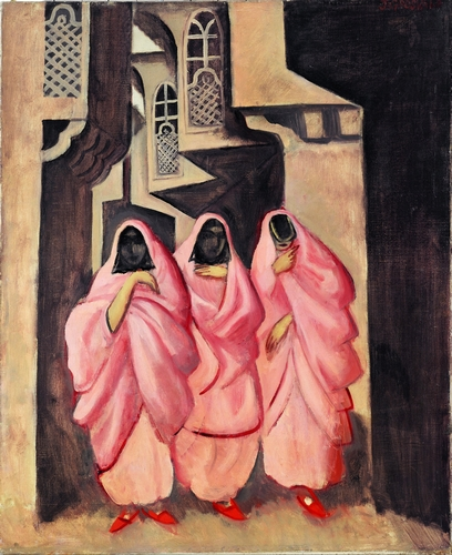 Joseph Grosvalds - Three Women on the Street of Baghdad