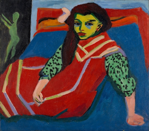 Kirchner - Seated girl