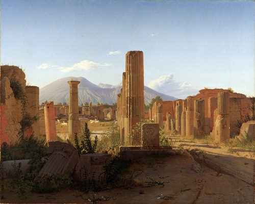 Kobke - The Forum, Pompeii, and Vesuvius