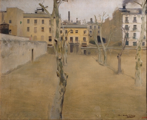 Ramon Casas - Courtyard of Barcelona Prison