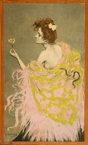 Ramon Casas - Design for poster Sifilis