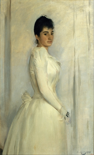 Ramon Casas - Portrait of Montserrat Carbo