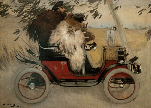 Ramon Casas - Ramon Casas in an Automobile